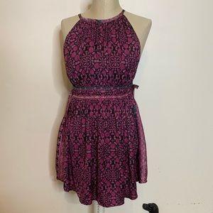 New * FP Side Tie Fit & Flare Halter Mini Dress